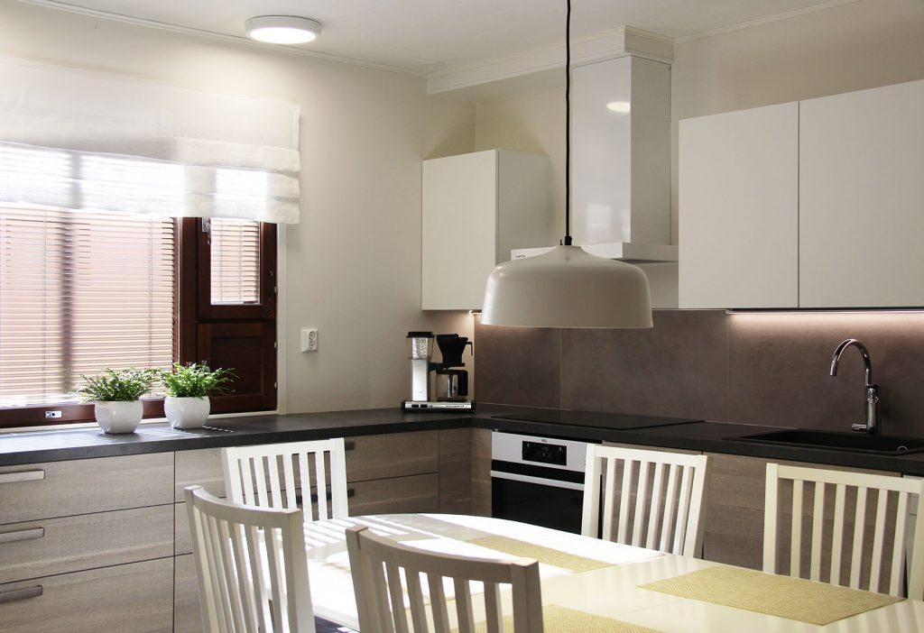 Keittiössä hyvä valaistus on erityisen tärkeää